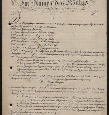 Wyrok w sprawie lokali szkolnych w ratuszu, 1866 r.